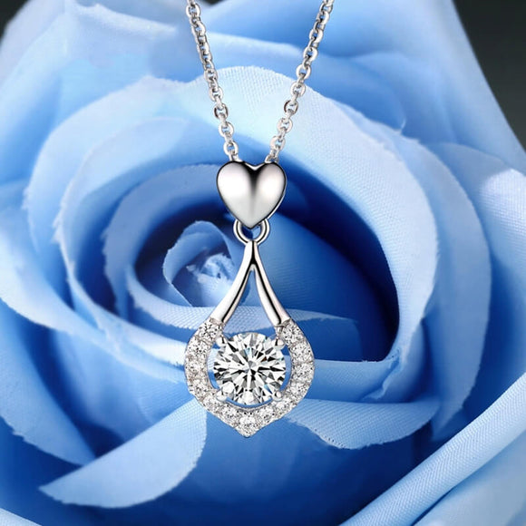 M Luxury Shine S925 Heart-shaped Zircon Heart Necklace (COD)