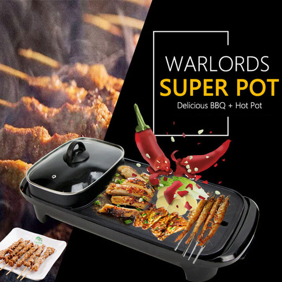 M ELECTRIC BARBECUE STOVE INDOOR HOT POT(COD) - Yinaje