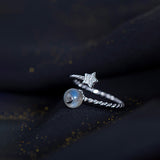 T S925 Starry sky ring(COD) - Yinaje