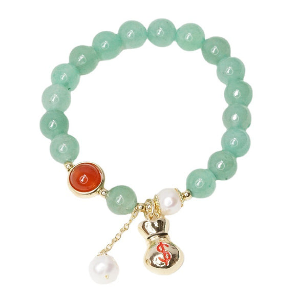 S Green Aventurine Female Lucky Bag Bracelet (COD)