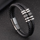 K Men double-layer stainless steel braided bracelet (COD)