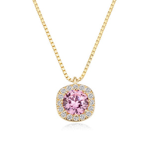 M Exquisite Pink Rhinestone Necklace(COD)