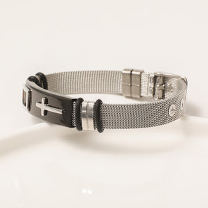 S Men Titanium steel Cross Bracelet(Buy 1 Free 1) (COD)