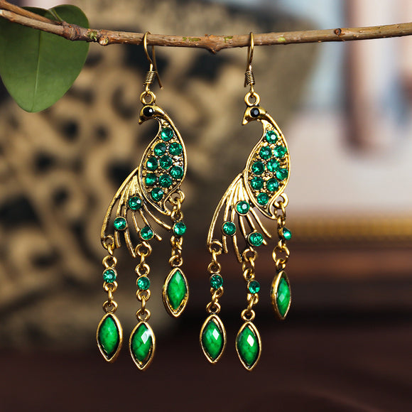 S Peacock Vintage Earrings (COD)
