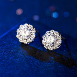 K Snowflake zircon earrings(COD)