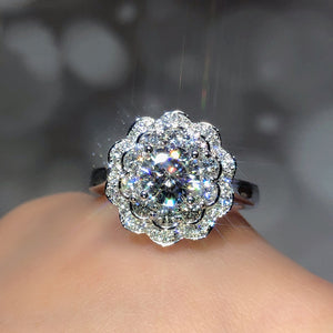 K Plum blossom double open ring (COD)