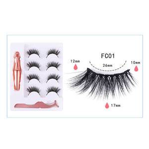 T magnetic eyelashes-Four pairs(COD) - Yinaje
