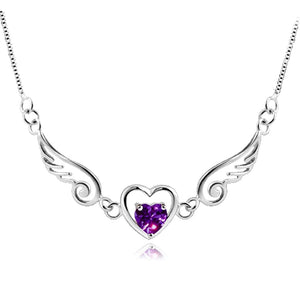 M S925 Silver Angel Lovers Necklace(COD) - Yinaje
