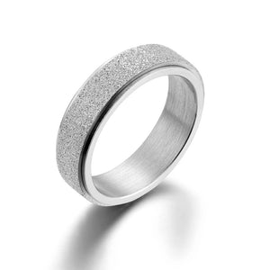 M Colorful Titanium Steel Frosted Rotating Ring(COD)