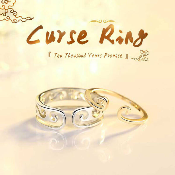 M S925 Silver Curse Opening Adjustable Ring (COD)