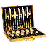 M 24 Piece Stainless Steel Tableware Set(COD) - Yinaje