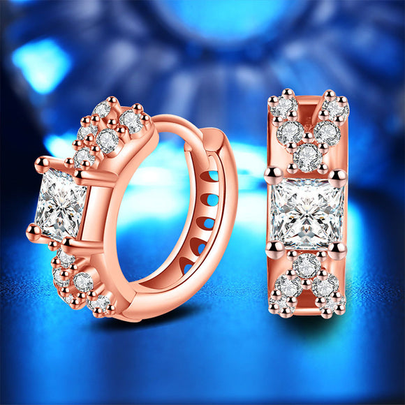 M Rose gold Stylish Personality Shinny Earrings (COD)