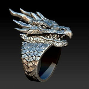 M Personality Creative Mens Dragon Ring(COD)