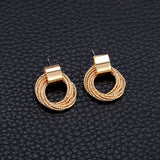 M European Personalized Creative Circle Earrings (COD)