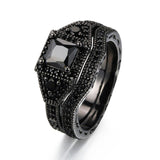 M Nano Black-Gold Ring(COD)