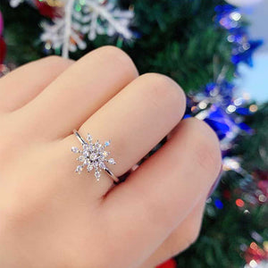 M S925 Silver Rotating Snowflake Ring (COD)