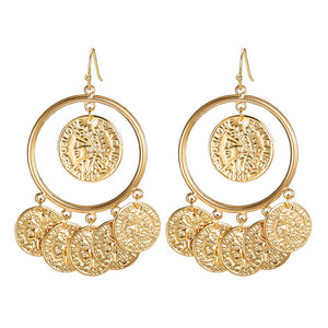 M Creative Personality Fashion Portrait Earrings(COD)