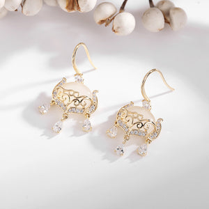 S Chinese Style Safe Lock Earrings (COD)