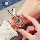 M Creative Rotating Magnetic Flower Ladies Watch(COD) - Yinaje