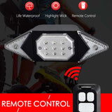 N USB rechargeable and remote control super bright waterproof bicycle turn signal(COD) - Yinaje