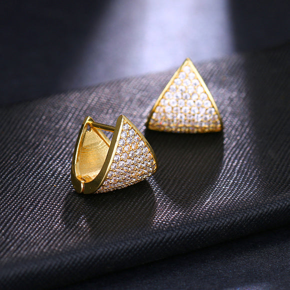 K Triangle full zirconium ear buckle (COD)