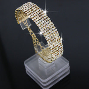 M Seven rows Flash Micro-inlaid AAA Zircon Bracelet (COD)