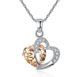 M S925 Silver Colorful Zircon Heart Necklace (COD)