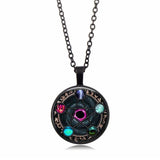 N Five-pointed Star Magic Array Time Gem Fashion Creative Pop Pendant(COD)