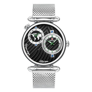 M REWARD Multi-time Zone Ultra-thin Waterproof Business Steel Belt Men's Watch(COD) - Yinaje