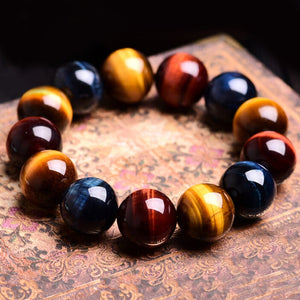 M Tiger Eye Stone Buddha Bracelet Bangle Trendy(COD) - Yinaje