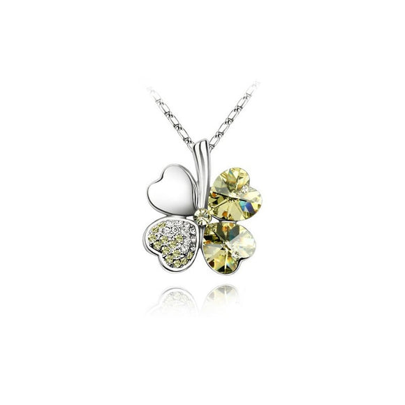 T Four-leaf clover crystal necklace(COD) - Yinaje