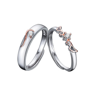 S Fly With Wings Couple Rings 2pcs Set(COD)