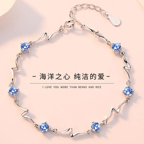 M S925 Sterling Silver Ocean Star Bamboo Bracelet 【Cash On Delivery】 - Yinaje