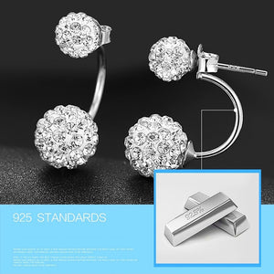 M S925 Silver Fashion Double Balls Earrings