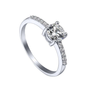 M Zircon Diamond Ring Special Birthday Gift Wedding Ring Party(COD) - Yinaje