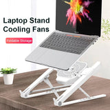 S 2 IN 1 Foldable Laptop Tablet Stand With Cooling Fan Heat Dissipation (COD)