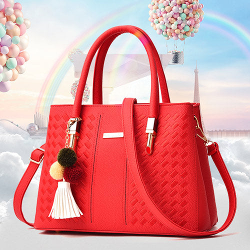 M High Capacity Multi-color choice Diagonal Hollow Lady Single Shoulder Bag with a Pendant - Yinaje
