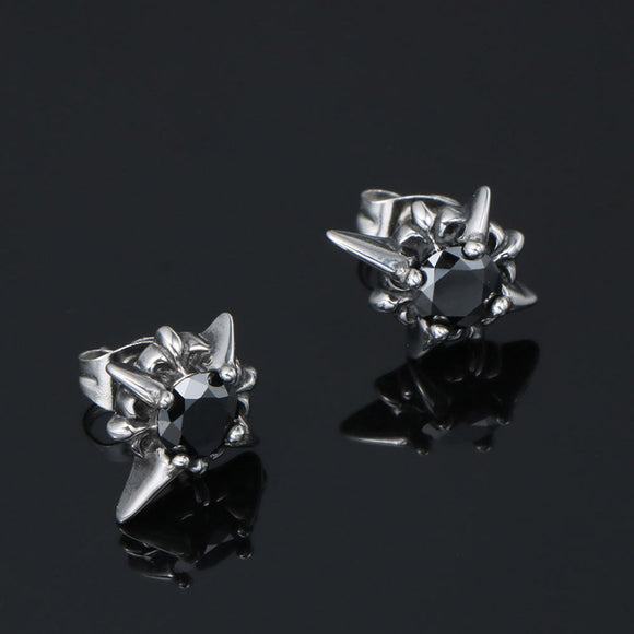 S Men Titanium Steel Punk Style Stud Earrings (COD)