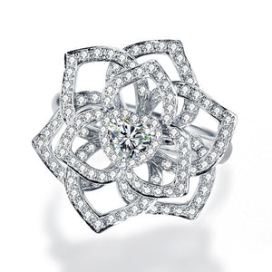 T Love Rose Zircon Ring(COD) - Yinaje