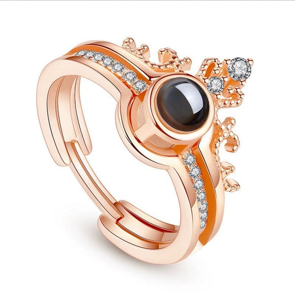 M 100 languages I love you 2 in 1 Ring Opening Adjustable(COD) - Yinaje