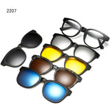 M Magnetic polarizer sun set of mirrors Sunglasses【Cash on delivery】 - Yinaje