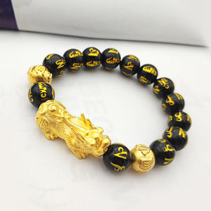 M Pixiu Vietnam Gold Lucky Beads Bracelet【Cash on delivery】 - Yinaje