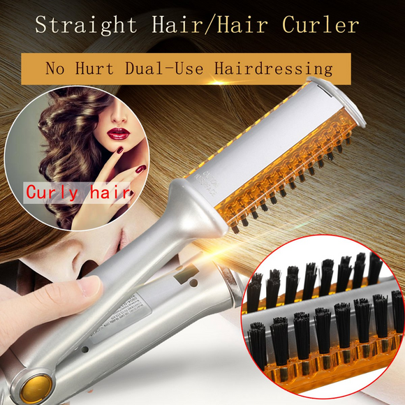 M 2 in 1 Straight Hair Straightener Curler 【Cash on delivery】 - Yinaje