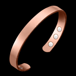 M Rose Gold Open Glossy Inlaid Magnet Health Bracelet (COD) - Yinaje