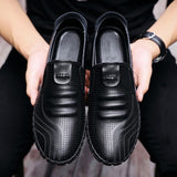 M Korean Men's Breathable Casual Comfortable Leather Shoes(COD) - Yinaje