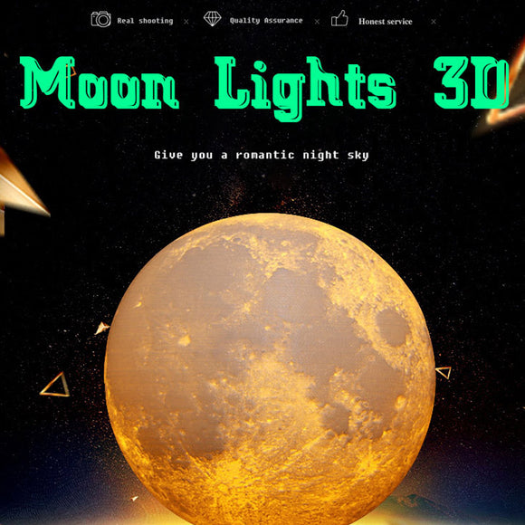 M 3D-Moon lamp【Cash on delivery】 - Yinaje
