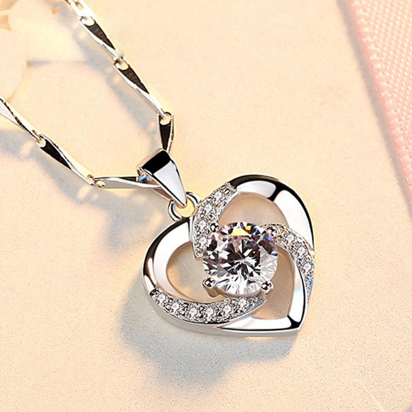M 925 Sterling Silver Love Necklace【Cash On Delivery】 - Yinaje