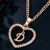 M 26-letter Zircon Love Necklace【Cash On Delivery】 - Yinaje