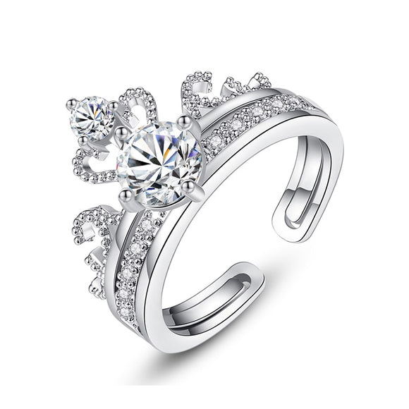 T Elegant Crown 2-in-1 Ring that can be resized【Cash On Delivery】 - Yinaje