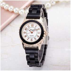 M Ceramic Strap Ladies Watch【Cash On Delivery】 - Yinaje